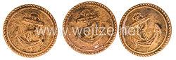Reichsmarine 3 Uniformknöpfe
