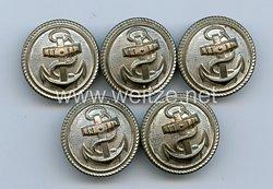 Kriegsmarine 5 Uniformknöpfe für einen Beamten