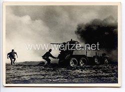 """Waffen-SS - Propaganda-Postkarte - """" Unsere Waffen-SS """" - Mann gegen Sowjetpanzer"""