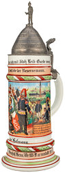 """Hessen - Reservistenkrug für den Tambour """"Hofmann"""" imLeibgarde-Infanterie-Regiment (1. Großherzoglich Hessisches) Nr. 115"""