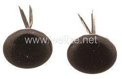 Wehrmacht Paar Knöpfe für die Mannschafts - Schirmmütze