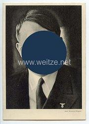 """III. Reich - Propaganda-Postkarte - """" Adolf Hitler - Reichstagung NSLB Frankfurt a.M. """" (Nationalsozialistischer Lehrerbund )"""