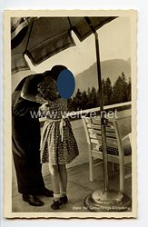 """III. Reich - Propaganda-Postkarte - """" Adolf Hitler - Dank für Geburtstags-Einladung """""""