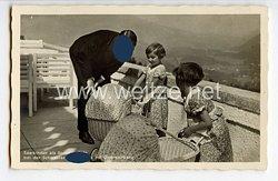 """III. Reich - Propaganda-Postkarte - """" Adolf Hitler - Saarkinder als Sommergäste bei der Schwester des Führers auf Obersalzberg """""""