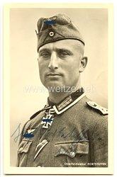 Heer - Originalunterschrift von Ritterkreuzträger Oberfeldwebel Josef Portsteffen