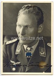 Luftwaffe - Originalunterschrift von Ritterkreuzträger Hauptmann Werner Baumbach