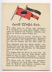 """III. Reich - farbige Propaganda-Postkarte - """" Horst-Wessel-Lied """""""