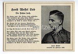 "III. Reich - Propaganda-Postkarte - "" Horst-Wessel-Lied """