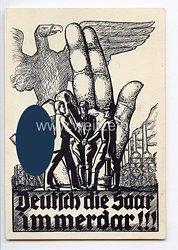 """III. Reich - Propaganda-Postkarte - """" Deutsch die Saar immerdar ! """""""