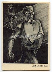 """III. Reich - Propaganda-Postkarte - """" Gute und böse Saat """""""