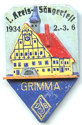 III. Reich - Deutscher Sängerbund ( DSB ) - 1. Kreis-Sängerfest 2.-3.6.1934 Grimma