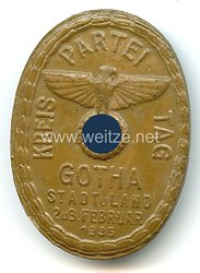 III. Reich - Kreisparteitag Gotha Stadt u. Land 2. u. 3. Februar 1935