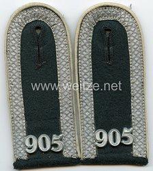 Wehrmacht Heer Paar Schulterklappen für einen Unteroffizier im Landesschützen-Bataillon 905