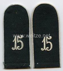 Wehrmacht Heer Schulterklappen - Rohlinge für Mannschaften im InfanterieRgt. 15