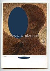 "III. Reich - frühe farbige Propaganda-Postkarte - "" Adolf Hitler - Der Führer """