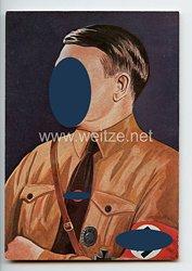 """III. Reich - farbige Propaganda-Postkarte - """" Reichskanzler Adolf Hitler """""""