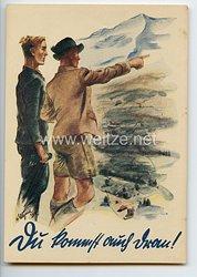 """III. Reich - farbige Propaganda-Postkarte - """" KdF - Du kommst auch dran ! """""""