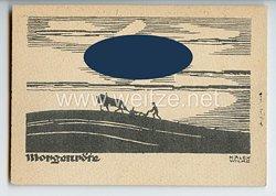 "III. Reich - Propaganda-Postkarte - "" Morgenröte "" ( Hakenkreuz als Sonne )"