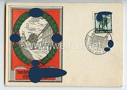 "III. Reich - farbige Propaganda-Postkarte - "" Zum Geburtstag des Führers 20. April 1938 """