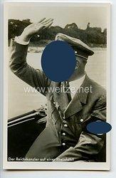 """III. Reich - Propaganda-Postkarte - """" Adolf Hitler - Der Reichskanzler auf einer Rheinfahrt """""""