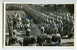 """III. Reich - Propaganda-Postkarte - """" Adolf Hitler - Der Führer beim Arbeitsdienst """""""