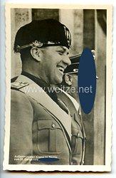 """III. Reich - Propaganda-Postkarte - """" Adolf Hitler - Außenminister Ciano in Berlin zum 50. Geburtstag des Führers """""""