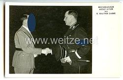 """III. Reich - Propaganda-Postkarte - """" Reichskanzler Adolf Hitler mit R. Walther Darrè """""""