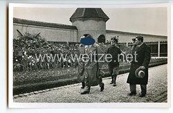 """III. Reich - Propaganda-Postkarte - """" Der Führer besucht am 8. Oktober 1934 10 Jahre nach seiner Entlassung die Festungshaftanstalt Landsberg a.L. """""""
