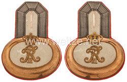 Preußen Paar Epauletten für einen Leutnantim Grenadier-Regiment König Friedrich III. (2. Schlesisches) Nr. 11