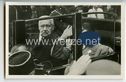 """III. Reich - Propaganda-Postkarte - """" Reichspräsident von Hindenburg und Reichskanzler Adolf Hitler bei der Jugendkundgebung im Lustgarten am Tag der nationalen Arbeit """""""