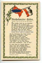 """III. Reich - farbige Propaganda-Postkarte - """" Reichskanzler Hitler """""""