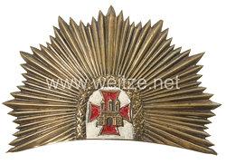 Hamburg Bürgermilitär Helmemblem für den Tschako Mannschaften der Infanterie