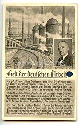 """III. Reich - Propaganda-Postkarte - """" Lied der deutschen Arbeit - Robert Ley """""""