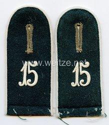 Wehrmacht Heer Schulterklappen für Mannschaften im InfanterieRgt. 15