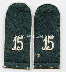 Wehrmacht Heer Paar Schulterklappen - Rohlinge für Mannschaften im InfanterieRgt. 15