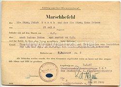 Waffen-SS - Originalunterschrift von SS-Hauptsturmführer Rolf d'Alquen
