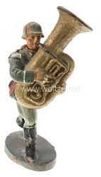 Elastolin - Heer Bläser mit großem Bass marschierend