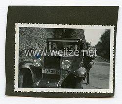 Allgemeine-SS Foto, Kraftfahrzeug mit Wimpel der SS