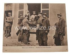 Deutsches Kaiserreich Pressefoto, Bilder von der Westfront. - Ausschank von echtem Bayrischen