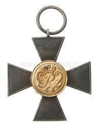 Preußen Landwehr-Dienstauszeichnung Kreuz für Offiziere XX Jahre.