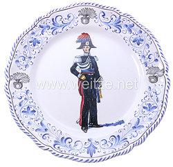 Italien Teller, Abbildung eines Carabinieri