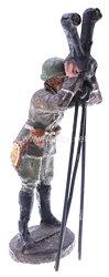 Elastolin - Heer Offizier am dreibeinigen Scherenfernrohr