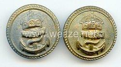 Kaiserliche Marine 2 Knöpfe für Offiziere
