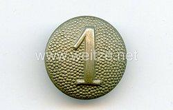 Reichswehr / Wehrmacht Einzel Schulterknopf für einen Soldaten der 1. Kompanie