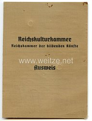 Reichskulturkammer - Reichskammer der bildenden Künste - Ausweis