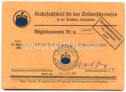 Reichsfachschaft für das Dolmetscherwesen in der Deutschen Rechtsfront - Mitgliedskarte