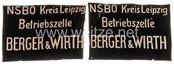 NSBO - Paar Fahnenspiegel für eine Betriebsfahne