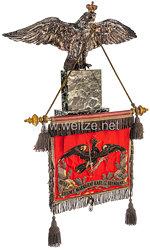 Preußen Großer Schellenbaumadler mit der Schellenbaumfahne des Infanterie-Regiments