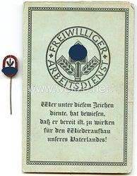 Freiwilliger Arbeitsdienst Gau 18 ( Lüneburg ) - Arbeitspaß mit Arbeitsdanknadel