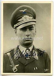 Luftwaffe - Originalunterschrift von Ritterkreuzträger Major Hubertus Hitschhold